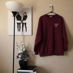 Vintage Harvard maroon sweatshirt